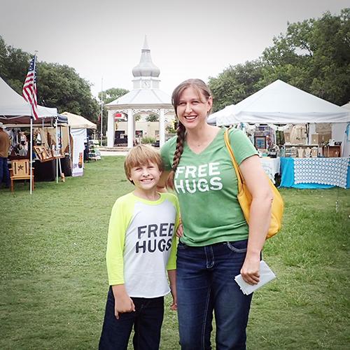 Free Hugs Project Boerne Plaza